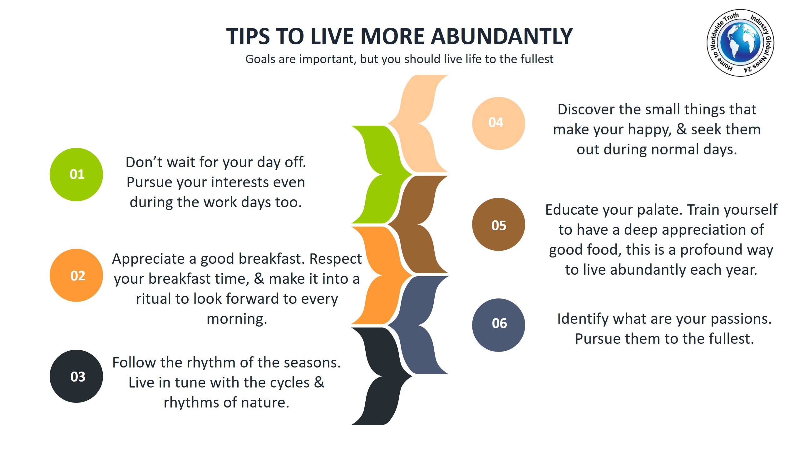 Tips to live more abundantly